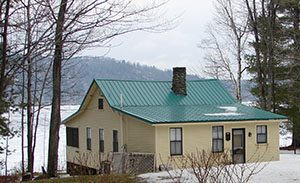 standing seam metal roofs Sebago lake Maine